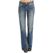 Rock & Roll Cowgirl Triple V Pocket Jeans - Bootcut (For Women) in Light Vintage Wash - Closeouts