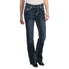 Rock & Roll Cowgirl Zigzag Deco Seam Stitch Jeans - Mid Rise, Bootcut (For Women) in Medium Wash - Closeouts
