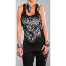 Rock & Roll Cowgirl Zip Zag Tank Top - Racerback (For Women) in 01 Black - Closeouts