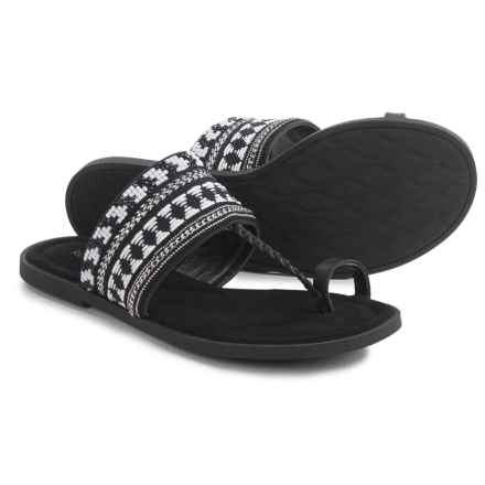 Rocket Dog Adela Embroidered Sandals (For Women) in Black - Closeouts