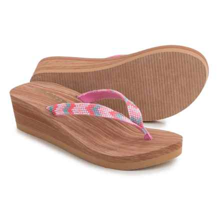 Rocket Dog Alani Wedge Flip-Flops (For Little and Big Girls) in Pink Multi - Closeouts
