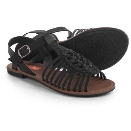 Rocket Dog Harp Strappy Sandals - Vegan Leather (For Women) in Black - Closeouts