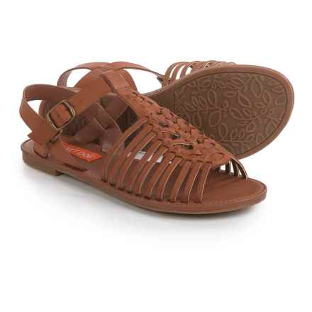 Rocket Dog Harp Strappy Sandals - Vegan Leather (For Women) in Tan - Closeouts
