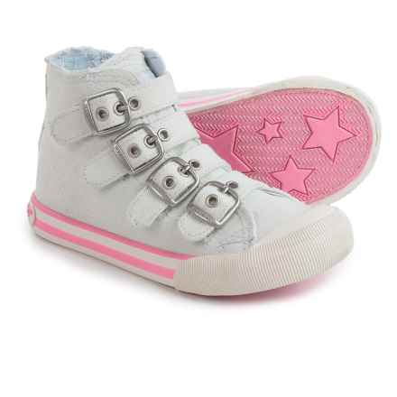 Rocket Dog High-Top Sneakers - Buckle Straps (For Little and Big Girls) in Pale Blue - Closeouts