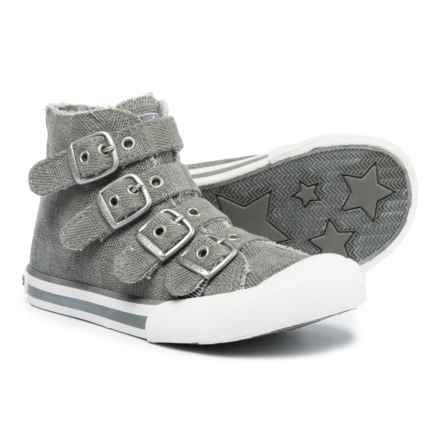 Rocket Dog Jaimme High-Top Sneakers - Buckle Strap (For Girls) in Grey - Closeouts