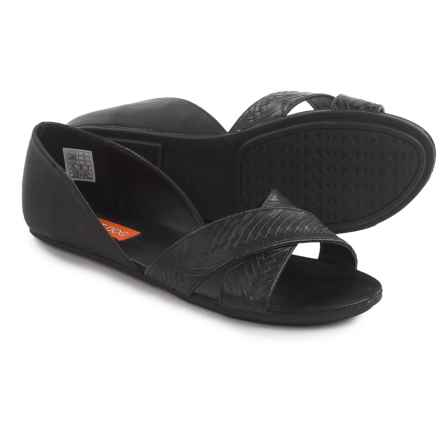 Rocket Dog Jenkins Sandals - Vegan Leather (For Women) in Black - Closeouts
