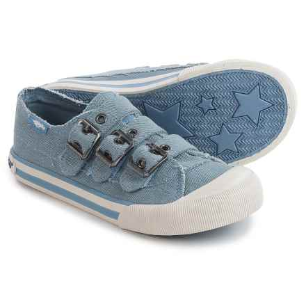 Rocket Dog Jolissa Sneakers - Buckle Straps (For Little and Big Girls) in Blue - Closeouts