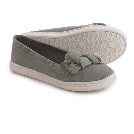 Rocket Dog Popper Canvas Shoes - Slip-Ons (For Little and Big Girls) in Grey - Closeouts
