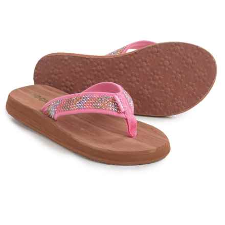 Rocket Dog Spotlight Thick-Sole Flip-Flops (For Little and Big Girls) in Pink - Closeouts
