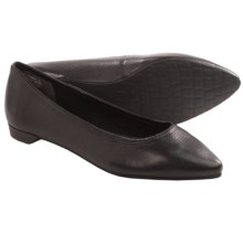Rockport Ashika Scooped Ballet Flats - Leather (For Women) in Black - Closeouts