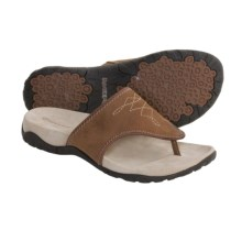 Rockport Charah Thong Sandals (For Women) in Brown/Dark Brown - Closeouts