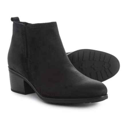 Rockport Danii Side-Zip Boots - Suede (For Women) in Black Suede - Closeouts