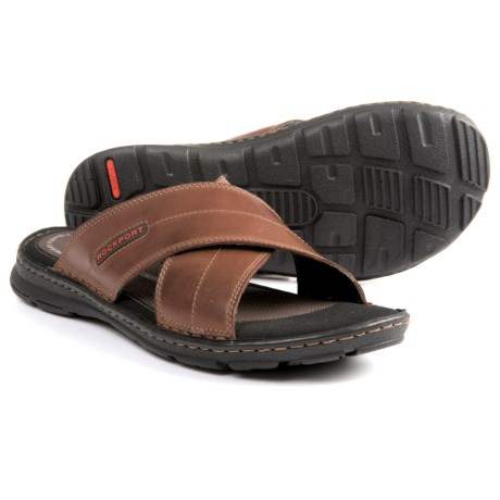 Rockport Darwyn Cross Band Sandals (For Men) in Coach Brown