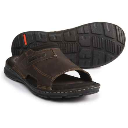 Rockport Darwyn Slide 2 Sandals - Leather (For Men) in Brown - Closeouts