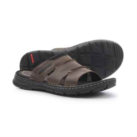 Rockport Darwyn Slide Sandals - Leather (For Men) in Brown - Closeouts