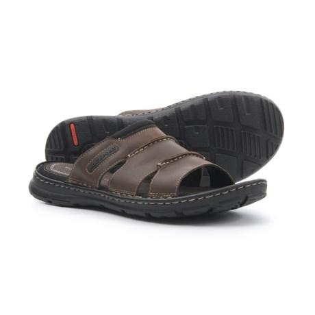 Rockport Darwyn Slide Sandals - Leather (For Men) in Brown