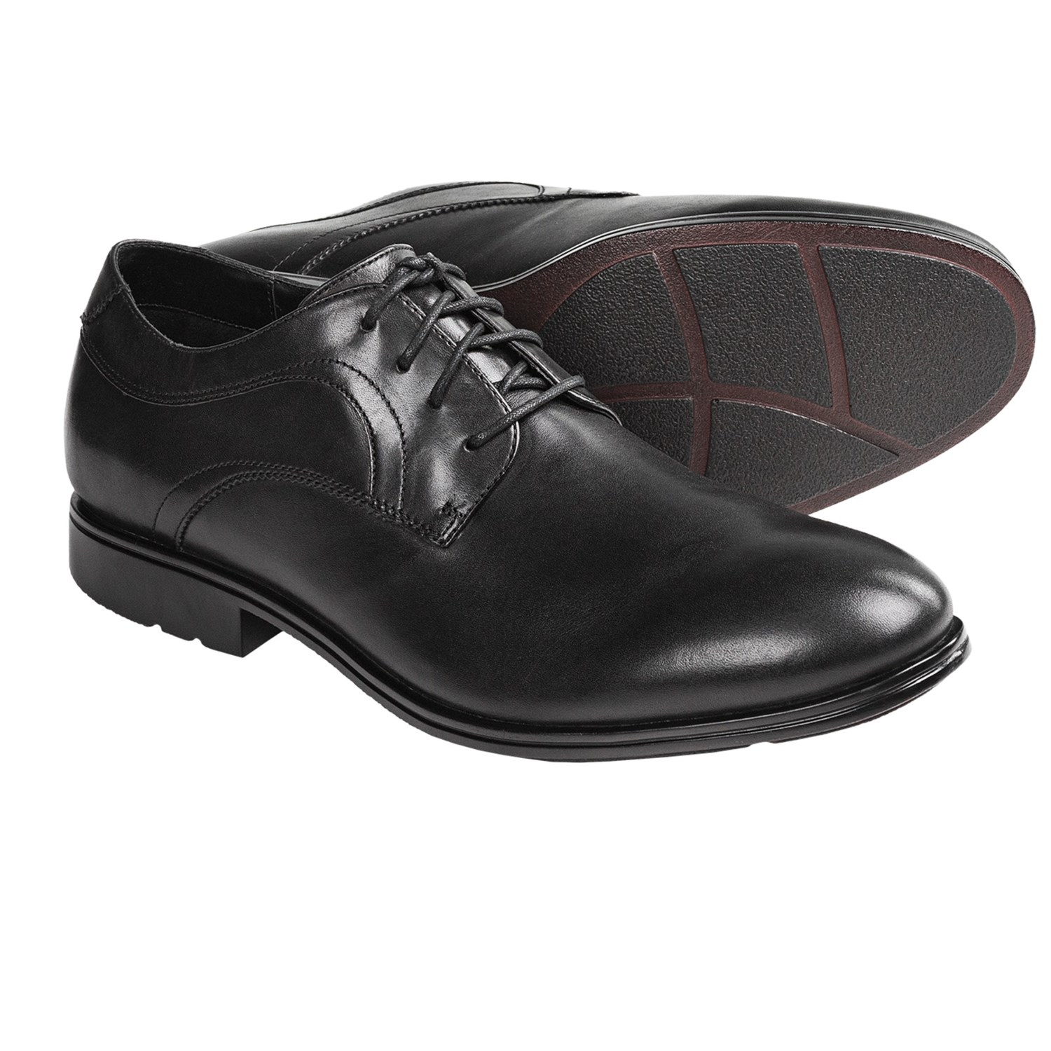 Rockport Fairwood 2 Plain Toe Oxford Shoes (For Men) in Black Smooth