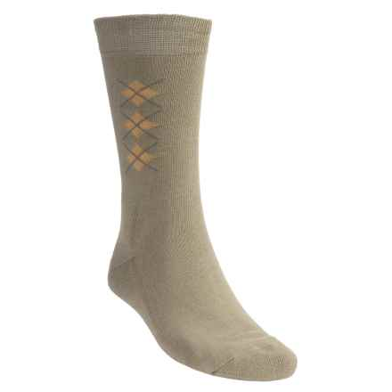 Rockport In the Center Socks - Crew (For Men) in Stone - Closeouts