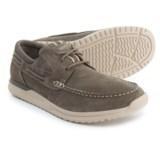 Rockport Langdon 3-Eye Boat Shoes - Nubuck (For Men)