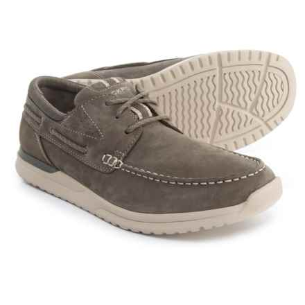 Rockport Langdon 3-Eye Boat Shoes - Nubuck (For Men) in Green - Closeouts