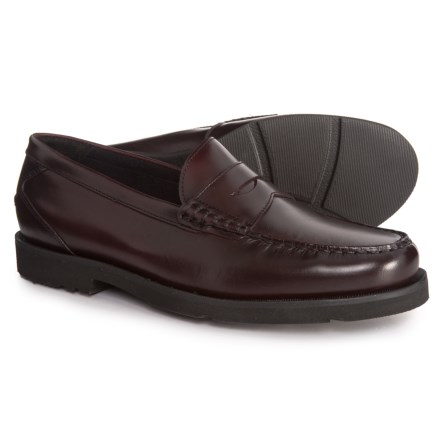 0c3f35b7cedd77 Rockport Made in Brazil Daily Ritual Penny Loafers - Leather (For Men) in  Burgundy