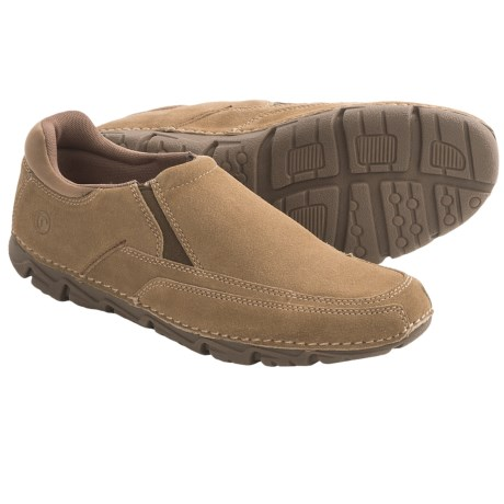 Rockport Road Traveler Lite Shoes - Slip-Ons (For Men) in Castlerock Grey Suede