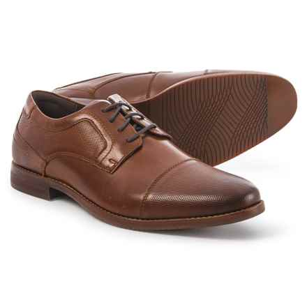 Rockport Style Purpose Blucher Cap Toe Oxford Shoes - Leather (For Men) in Brown - Closeouts