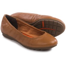 Rockport Total Motion Leather Ballet Flats (For Women) in Valigia Tumble Goat - Closeouts