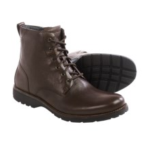 Rockport Total Motion Street Boots - Leather, Round Toe (For Men) in Coach Brown - Closeouts