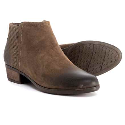 Rockport Vanna 2-Part Booties - Nubuck (For Women) in Taupe Grey - Closeouts