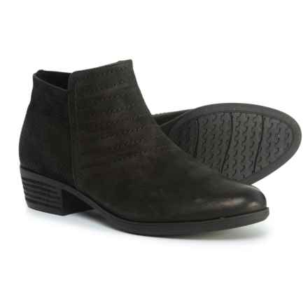 Rockport Vanna Strappy Ankle Booties - Nubuck (For Women) in Black Nubuck - Closeouts