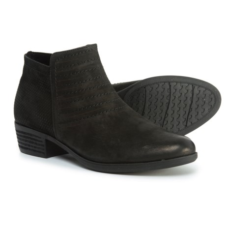 Rockport Vanna Strappy Ankle Booties - Nubuck (For Women) in Black Nubuck