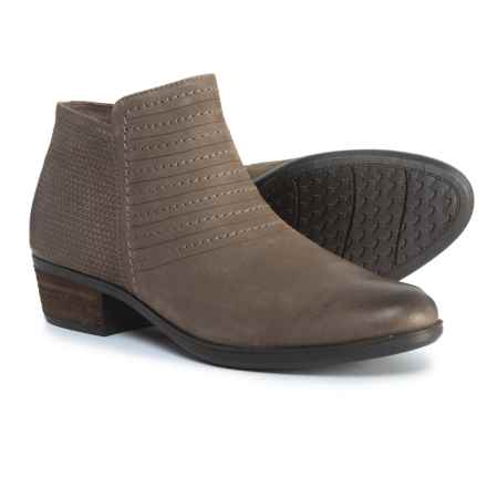 Rockport Vanna Strappy Ankle Booties - Nubuck (For Women) in Olive Grey Nubuck - Closeouts