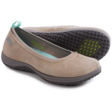 Rockport Walk360 Ballet Shoes - Leather (For Women) in Simply Taupe Nubuck - Closeouts