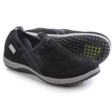 Rockport Walk360 Perforated Shoes - Leather, Slip-Ons (For Women) in Black Nubuck - Closeouts
