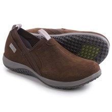 Rockport Walk360 Perforated Shoes - Leather, Slip-Ons (For Women) in Ebano Nubuck - Closeouts