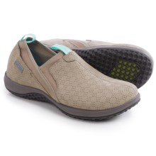 Rockport Walk360 Perforated Shoes - Leather, Slip-Ons (For Women) in Simply Taupe Nubuck - Closeouts