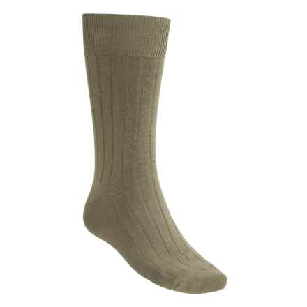 Rockport Wide-Rib Socks - Crew (For Men) in Taupe - Closeouts