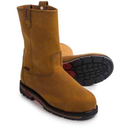 Rocky GYW Wellington Work Boots - Waterproof, Steel Toe (For Men) in Brown - Closeouts