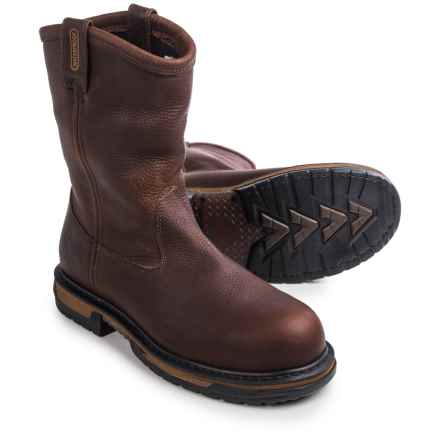 "Rocky Ironclad 10"" Wellington Work Boots - Waterproof, Steel Toe (For Men) in Brown - Closeouts"