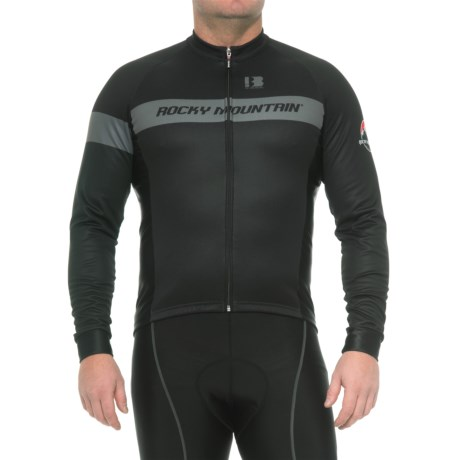 Rocky Mountain Classic Cycling Jersey - Long Sleeve (For Men) in Black/Grey