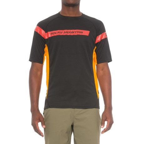 Rocky Mountain RF Indy Cycling Jersey - Crew Neck, Short Sleeve (For Men) in Black/Red/Orange