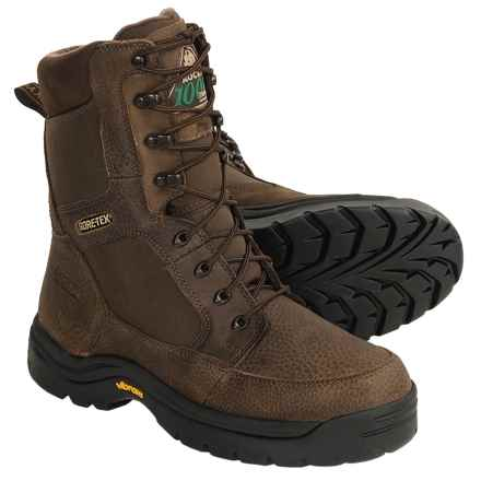 """Rocky Outdoor Gear Ice Gore-Tex® Leatger Boots - 8"""", Waterproof, Thinsulate® (For Men) in Brown - Closeouts"""