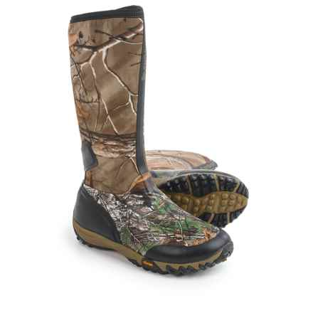 Rocky SilentHunter Rubber Boots - Waterproof, Insulated (For Men) in Realtree Xtra Green - Closeouts