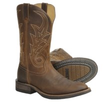 Rocky Welted Leather Cowboy Boots - U-Toe (For Men) in Saddle Brown - Closeouts