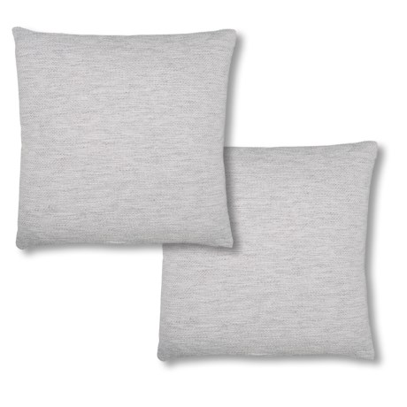 Rodeo Home Linen Look Silver Throw Pillows 2 Pack 20x20