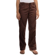 Roll-Tab Cargo Pants (For Women) in Coffee - 2nds