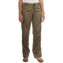 Roll-Tab Cargo Pants (For Women) in Olive - 2nds
