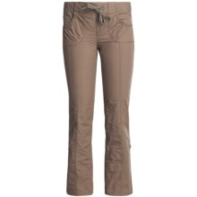 Roll-Up Poplin Pants (For Girls) in Brown - Closeouts