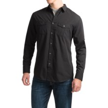 Roll-Up Sleeve Dress Shirt - Long Sleeve (For Men) in Black - Closeouts